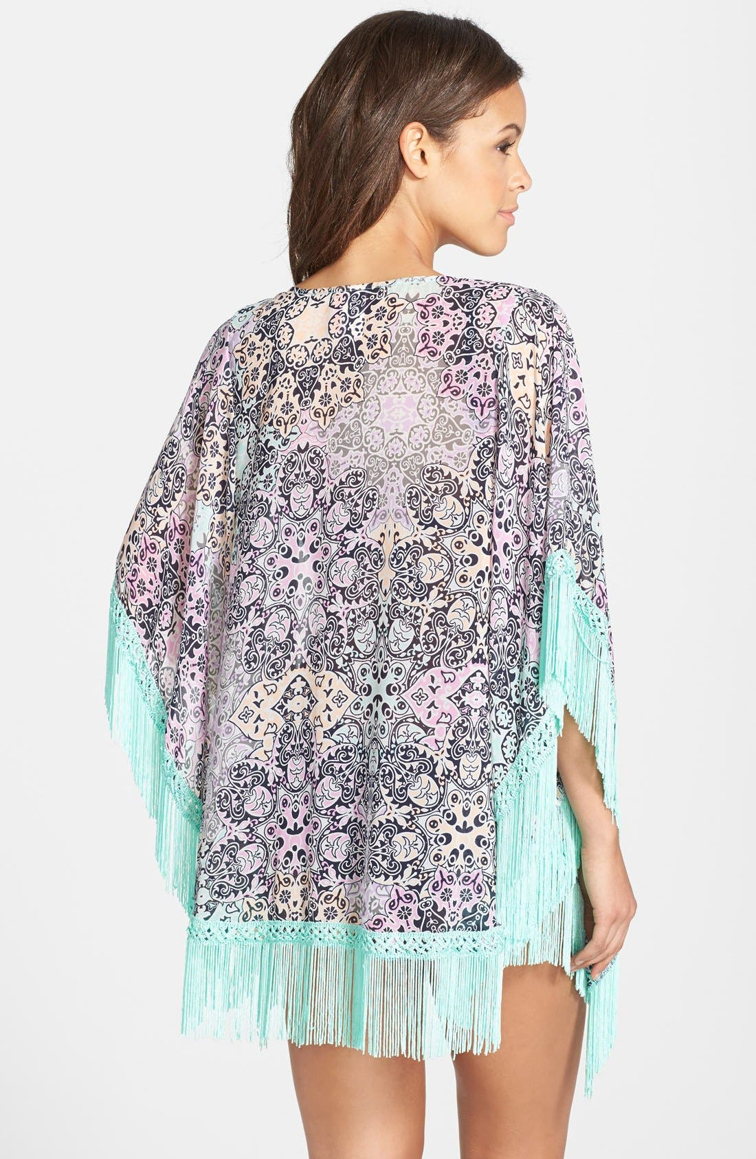 ,                             'Smock This Way' Print Kimono,                             Alternate thumbnail 3, color,                             401