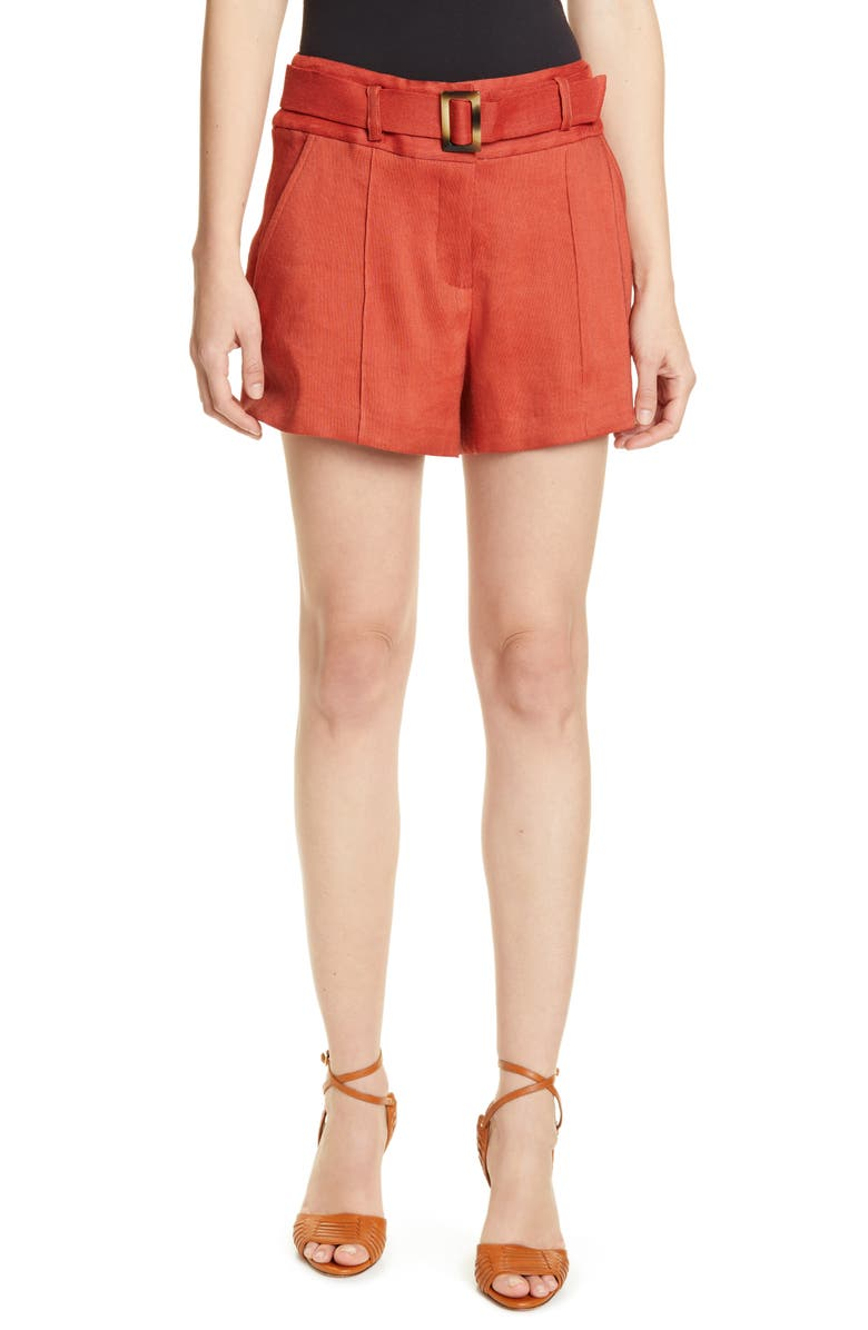 VERONICA BEARD Makayla Belted Shorts, Main, color, 622