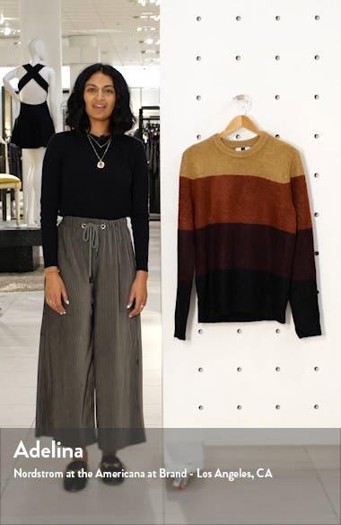 Harlow Classic Fit Colorblock Crewneck Sweater, sales video thumbnail