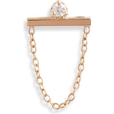 Zoe Chicco Single Diamond Bar & Chain Earring