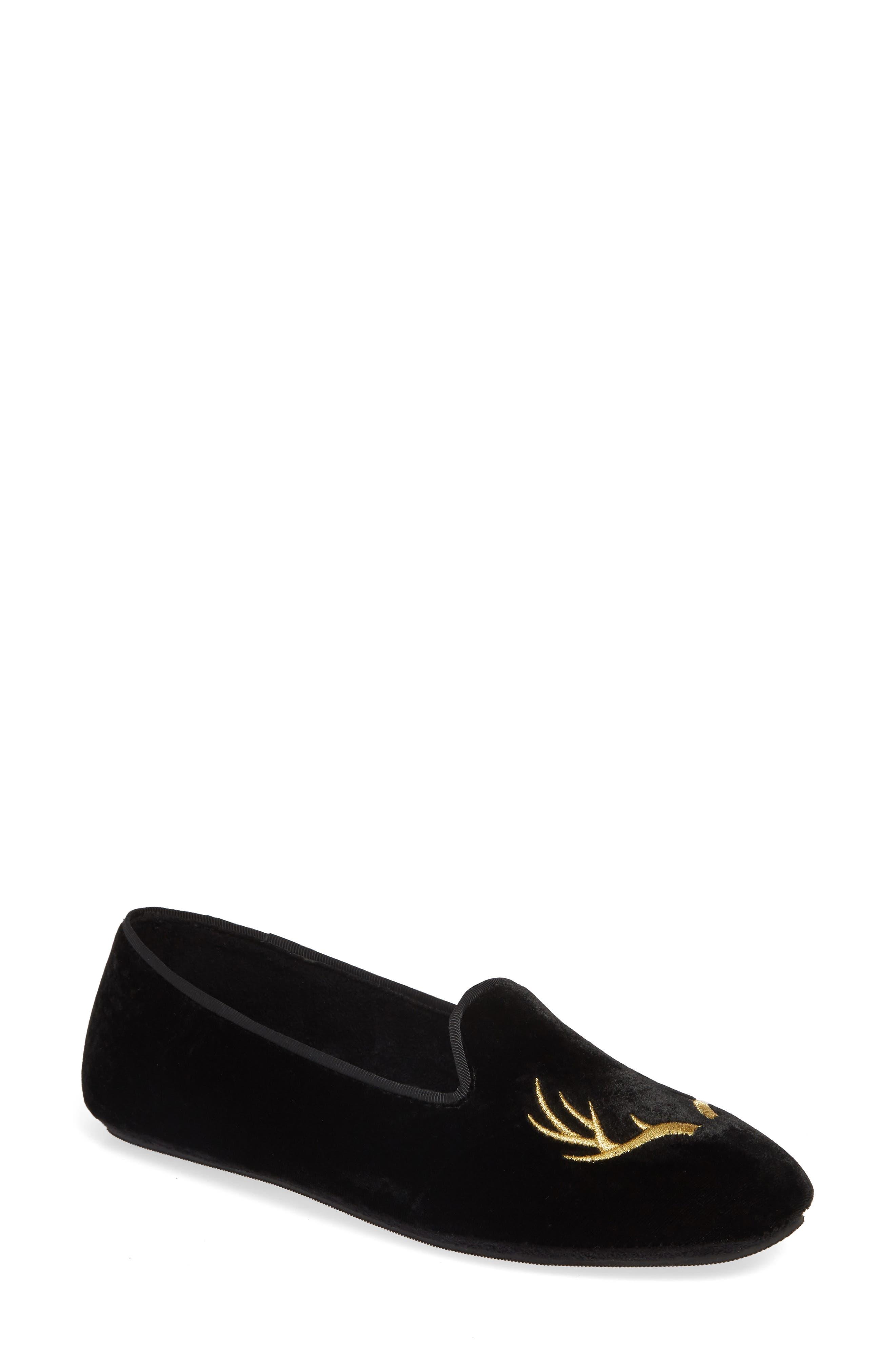 Patricia Green Elegant Antler Loafer, Black
