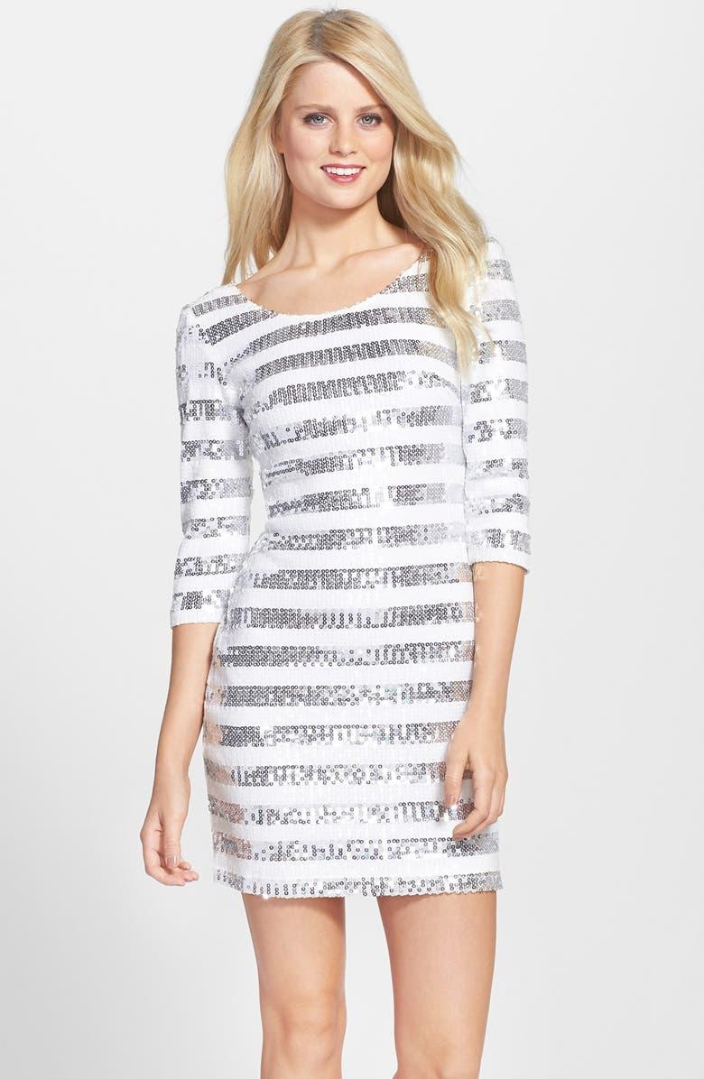 CLOVE Sequin Shift Dress, Main, color, 049