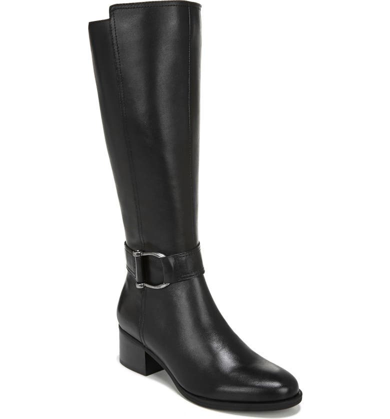 NATURALIZER Daelynn Tall Boot, Main, color, BLACK LEATHER