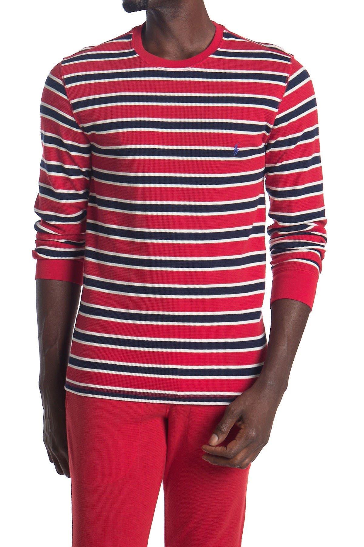 Image of Polo Waffle Knit Stripe Sweater