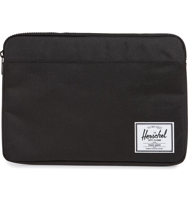 HERSCHEL SUPPLY CO. Anchor 13-Inch MacBook Sleeve, Main, color, BLACK