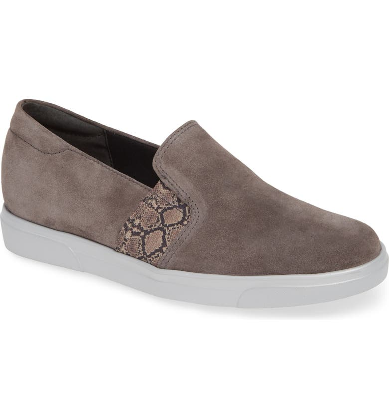 MUNRO Randie Slip-On Sneaker, Main, color, ASH GREY SUEDE