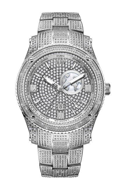 Image of JBW Men's Jet Setter Diamond Bracelet Watch, 46mm - 1.00 ctw