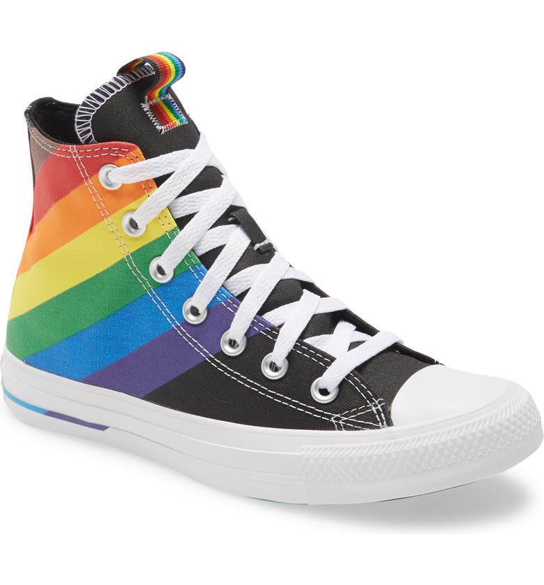 CONVERSE Chuck Taylor<sup>®</sup> All Star<sup>®</sup> High Top Pride Sneaker, Main, color, CONVERSE BLACK