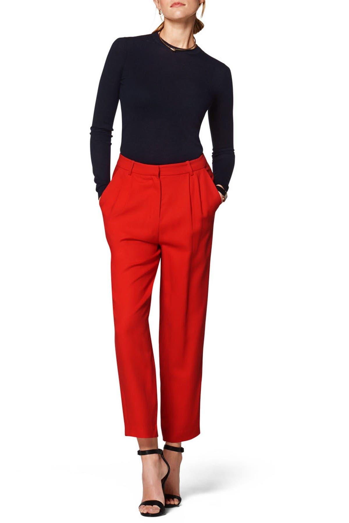 Image of SUISTUDIO Dan Red High Rise Trousers
