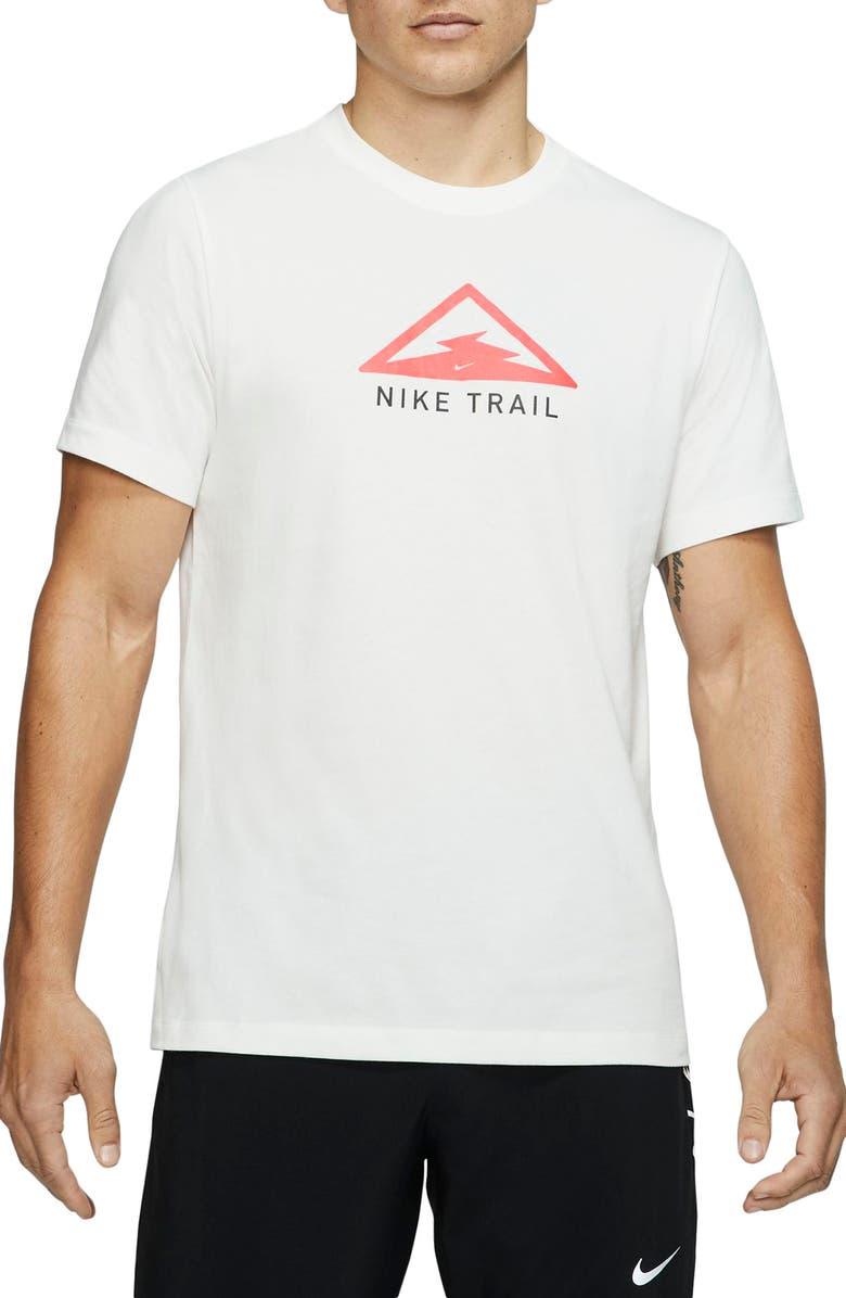 NIKE Dri-FIT Trail Running T-Shirt, Main, color, SAIL