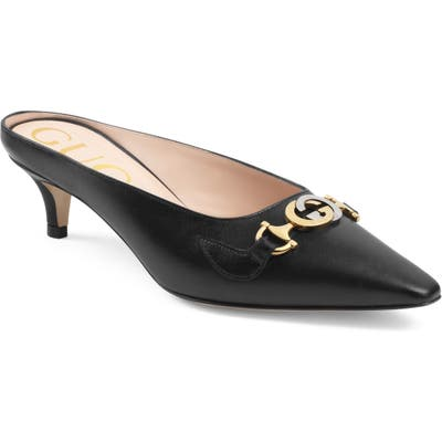 Guccipointy Toe Mule, Black