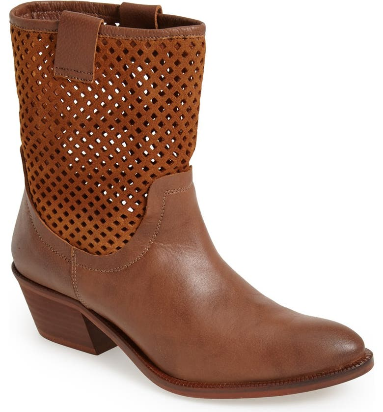 SIXTYSEVEN 'Laurie' Perforated Leather Short Boot, Main, color, 209
