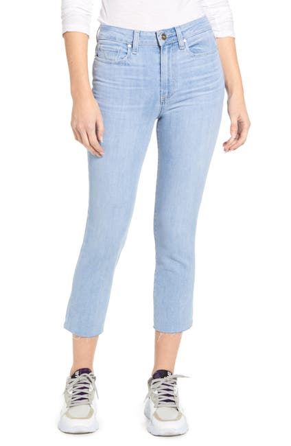 Image of PAIGE Hoxton Raw Crop Slim Jeans