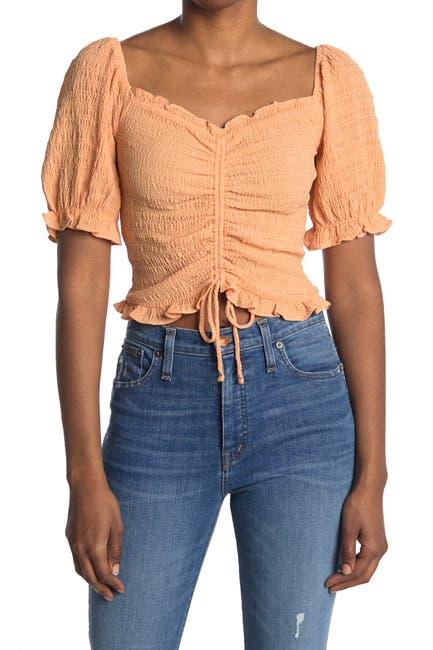 Image of Elodie Cinch Puff Sleeve Top