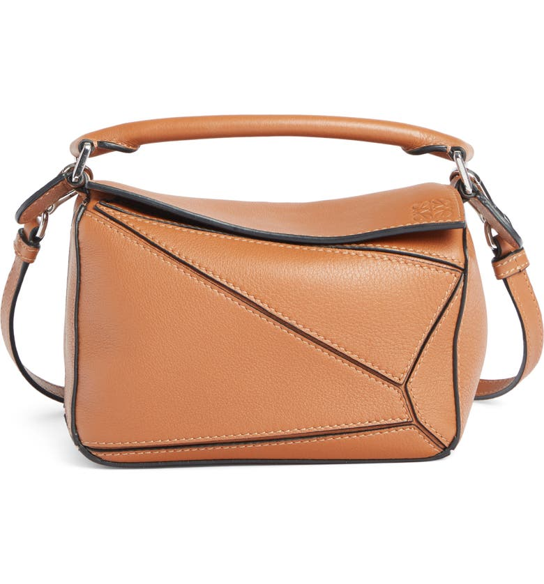 LOEWE Mini Puzzle Calfskin Leather Bag, Main, color, 200