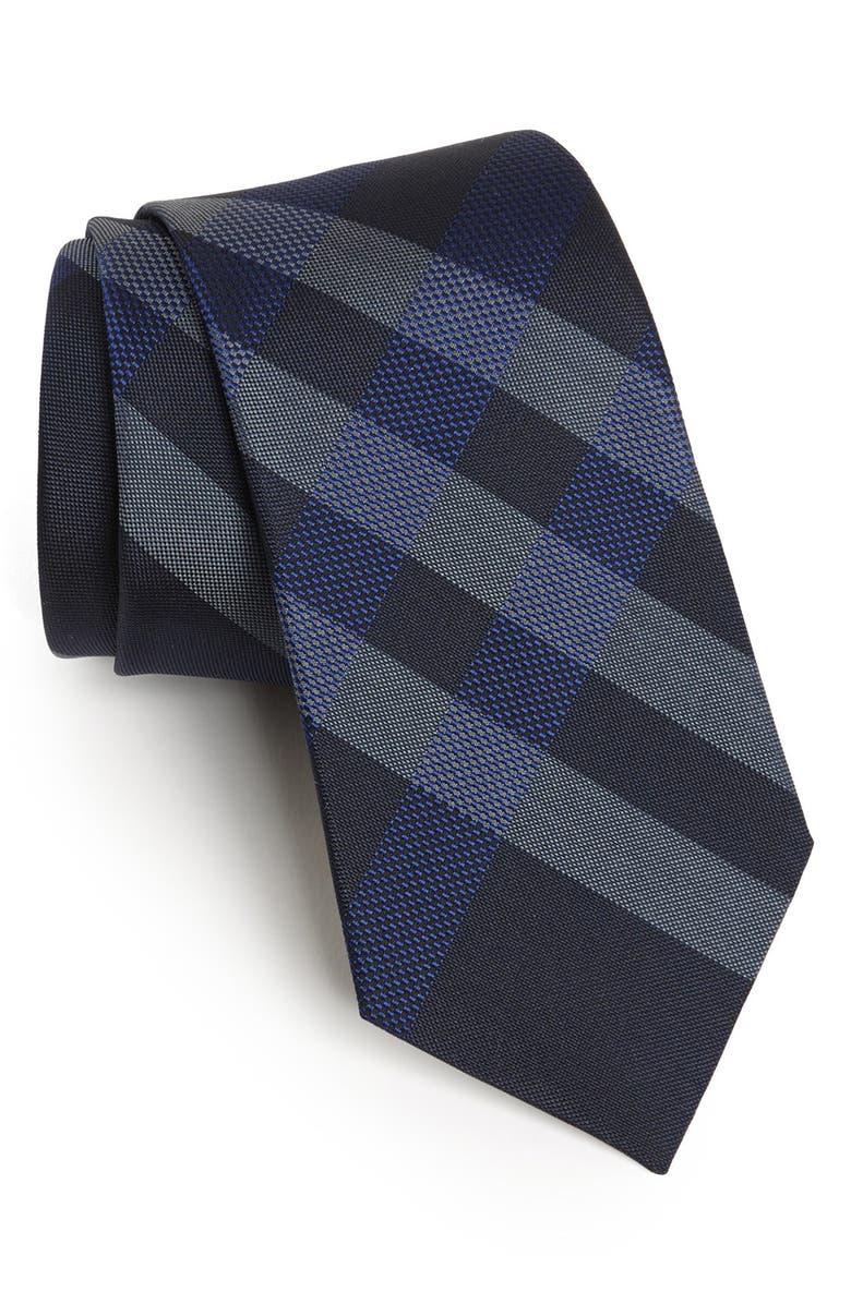BURBERRY London Woven Silk Tie, Main, color, 410