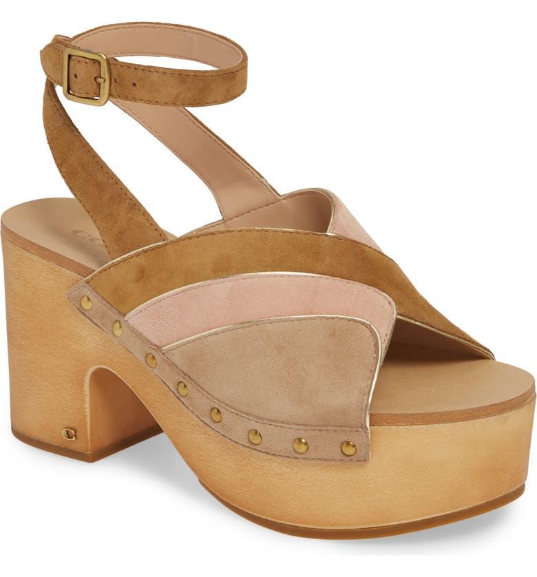 COACH Nettie Ankle Strap Platform Sandal, Main, color, 200