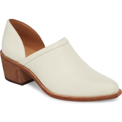 Madewell The Brady Block Heel Bootie, White