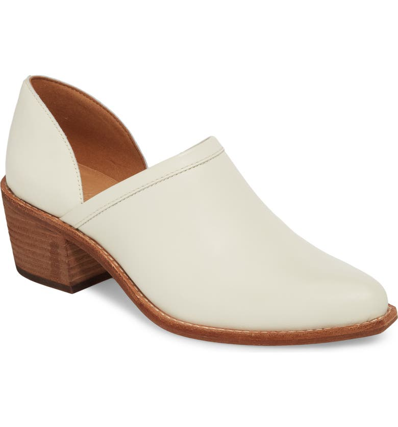MADEWELL The Brady Block Heel Bootie, Main, color, VINTAGE CANVAS LEATHER