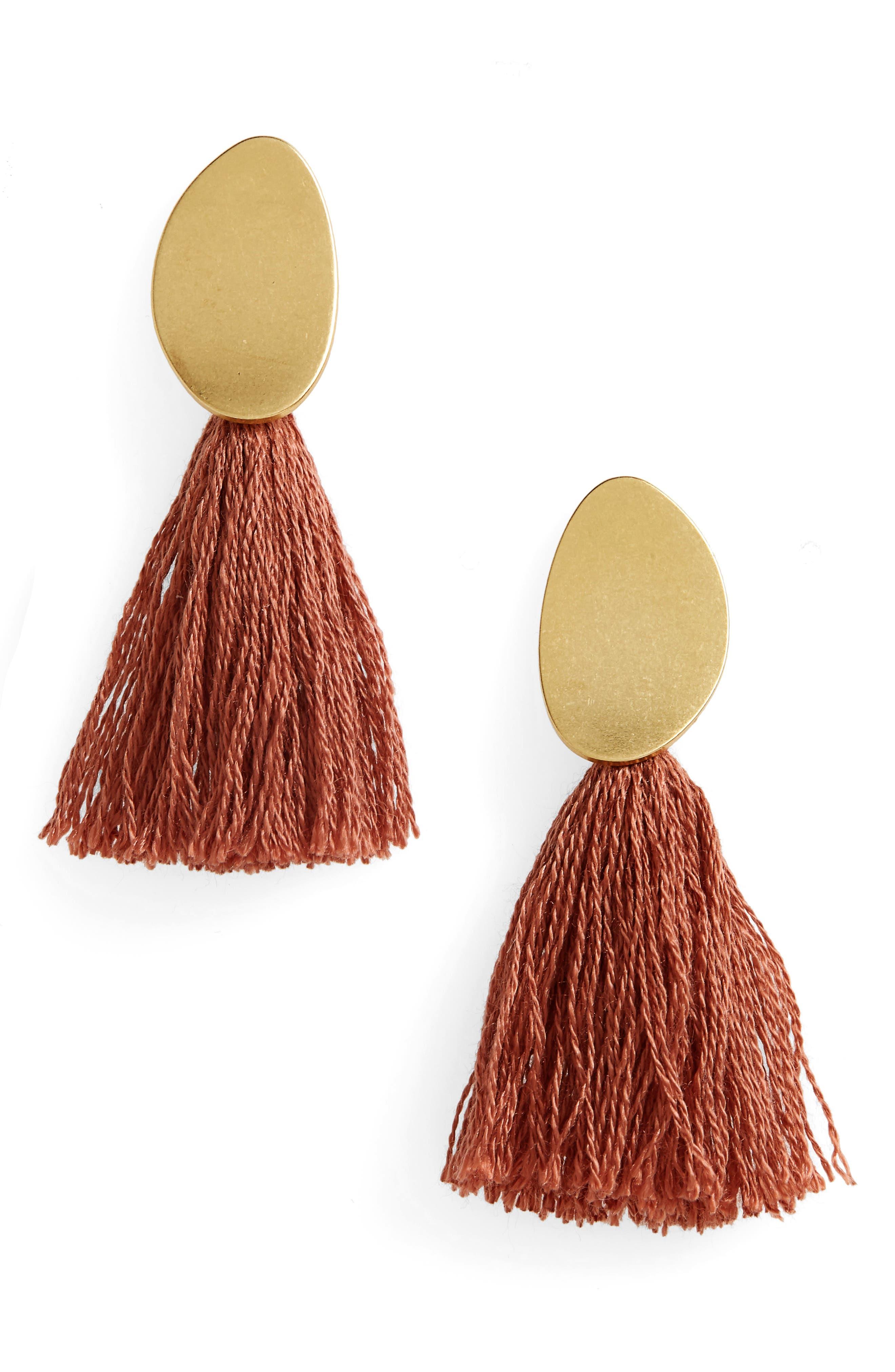 ,                             Curved Tassel Earrings,                             Main thumbnail 4, color,                             219