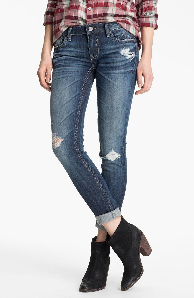 VIGOSS Destroyed Skinny Jeans, Main, color, 403