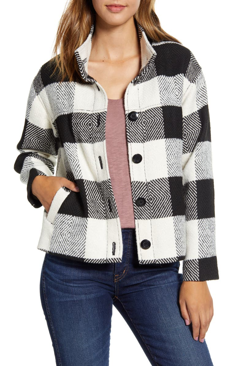 CASLON<SUP>®</SUP> Buffalo Check Jacket, Main, color, 900
