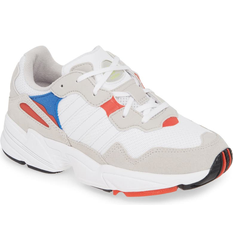 ADIDAS Yung-96 Sneaker, Main, color, WHITE/ CRYSTAL WHITE/ RED
