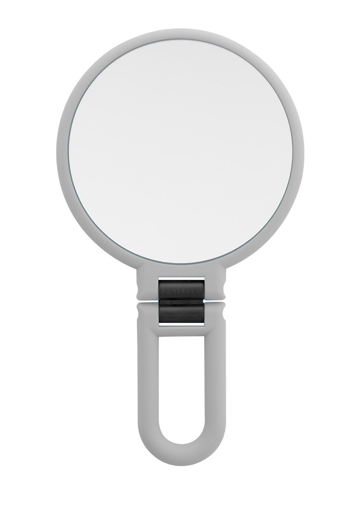 Image of UPPER CANADA SOAPS Danielle Soft Touch Hand Held Foldable Mirror - Cool Grey