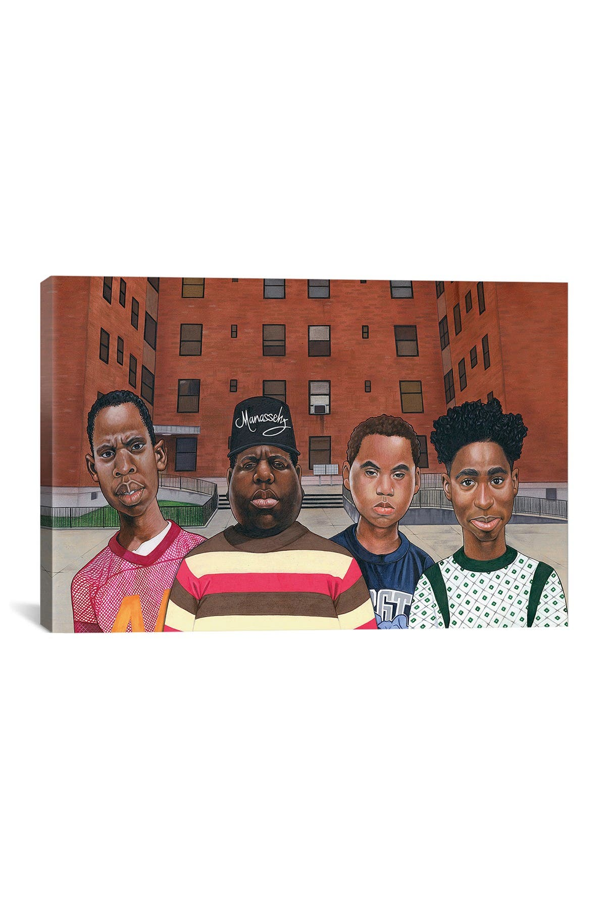 Image of iCanvas Boyz N Da Hood (Hiphop Legends) by Manasseh Johnson