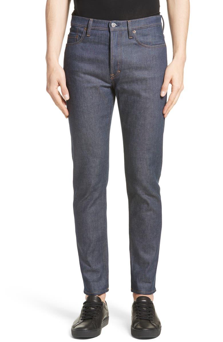 ACNE STUDIOS River Tapered Slim Fit Jeans, Main, color, INDIGO