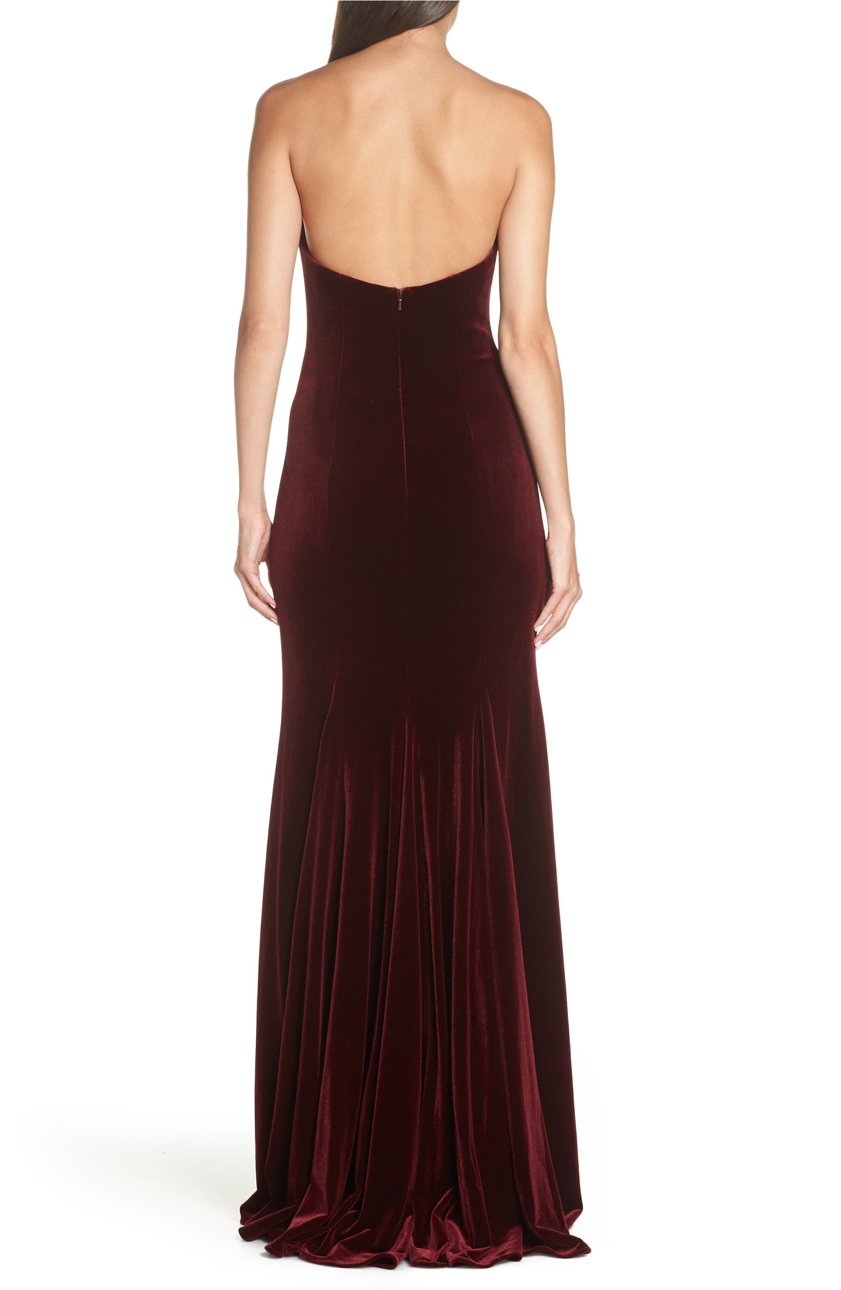 b9b37c915afc0 Xscape Strapless Velvet Gown   Nordstrom