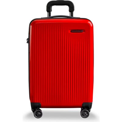Briggs & Riley 22-Inch Domestic Expandable Spinner Wheeled Carry-On - Red