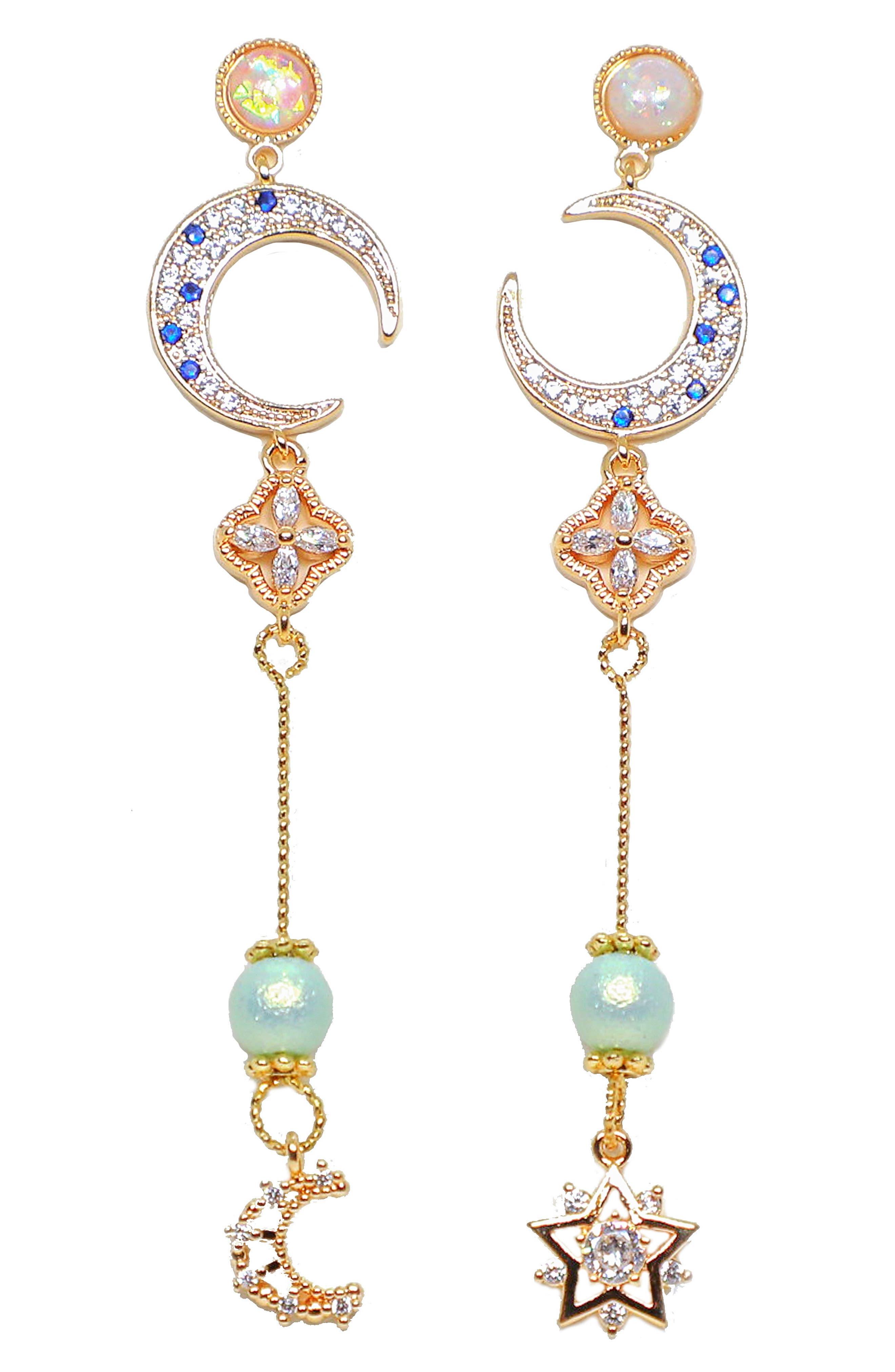 Precious Moon Drop Earrings
