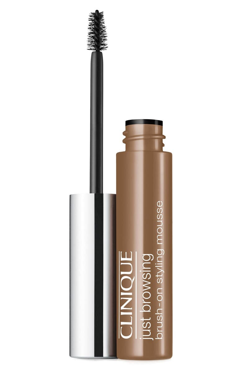 CLINIQUE Just Browsing Brush-On Styling Mousse, Main, color, SOFT BROWN