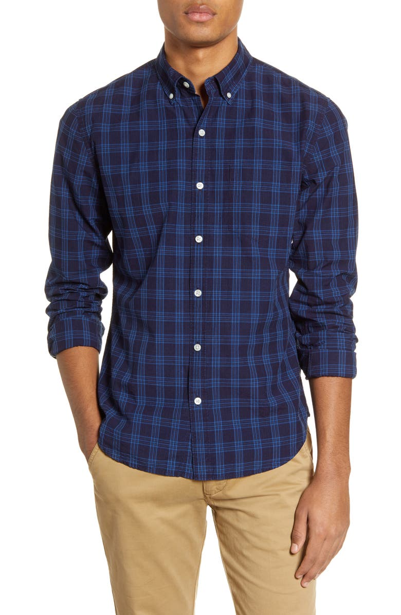 BONOBOS Slim Fit Plaid Button-Down Shirt, Main, color, 400