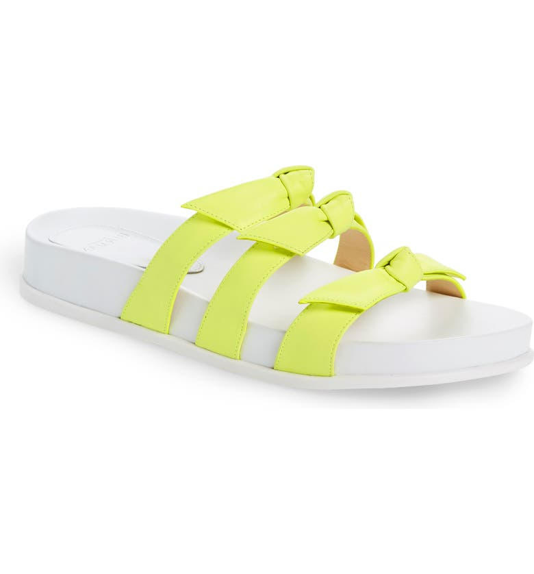 ALEXANDRE BIRMAN Lolita Bow Slide Sandal, Main, color, YELLOW FLUO