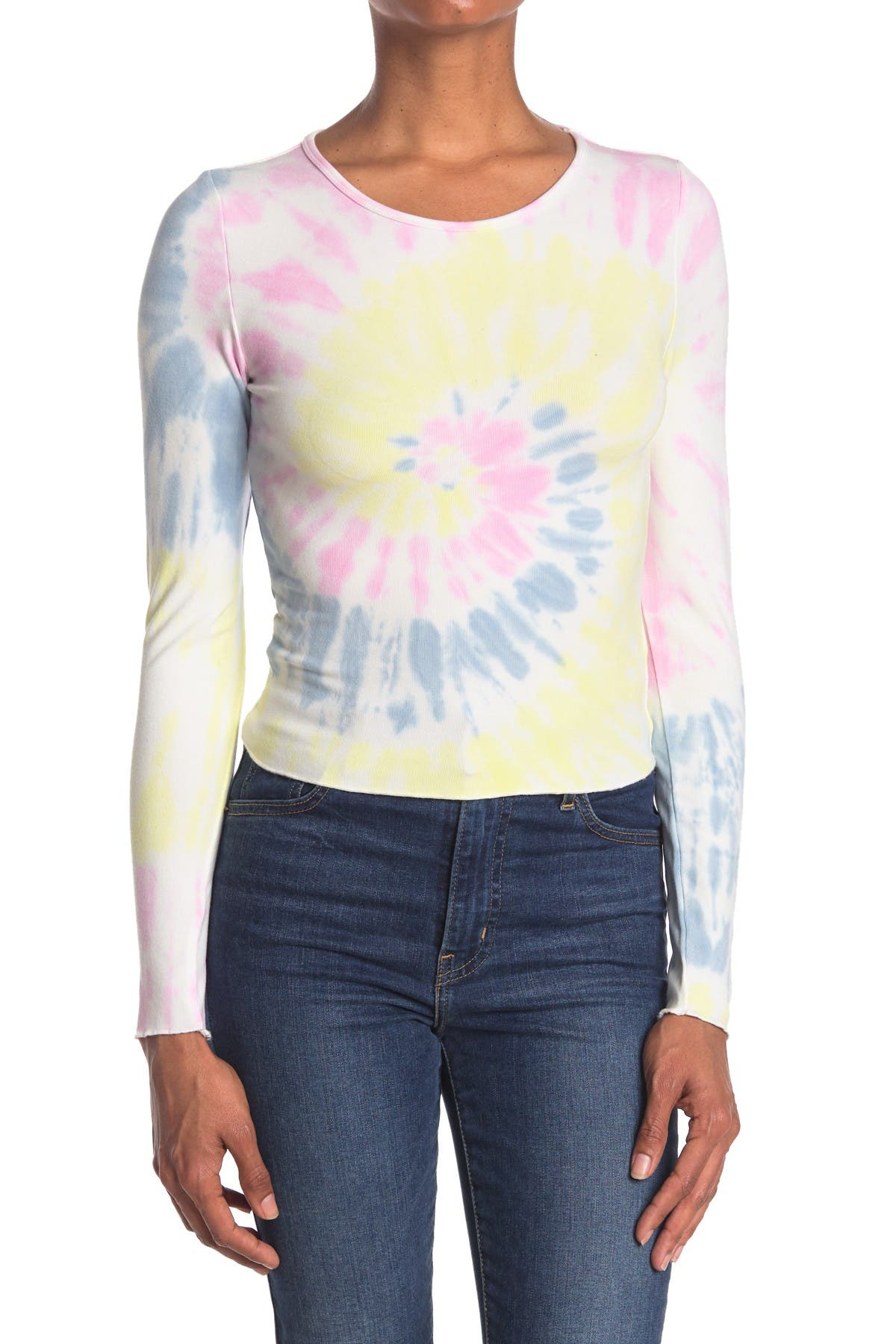 Image of Elodie Long Sleeve Tie Dye Tee