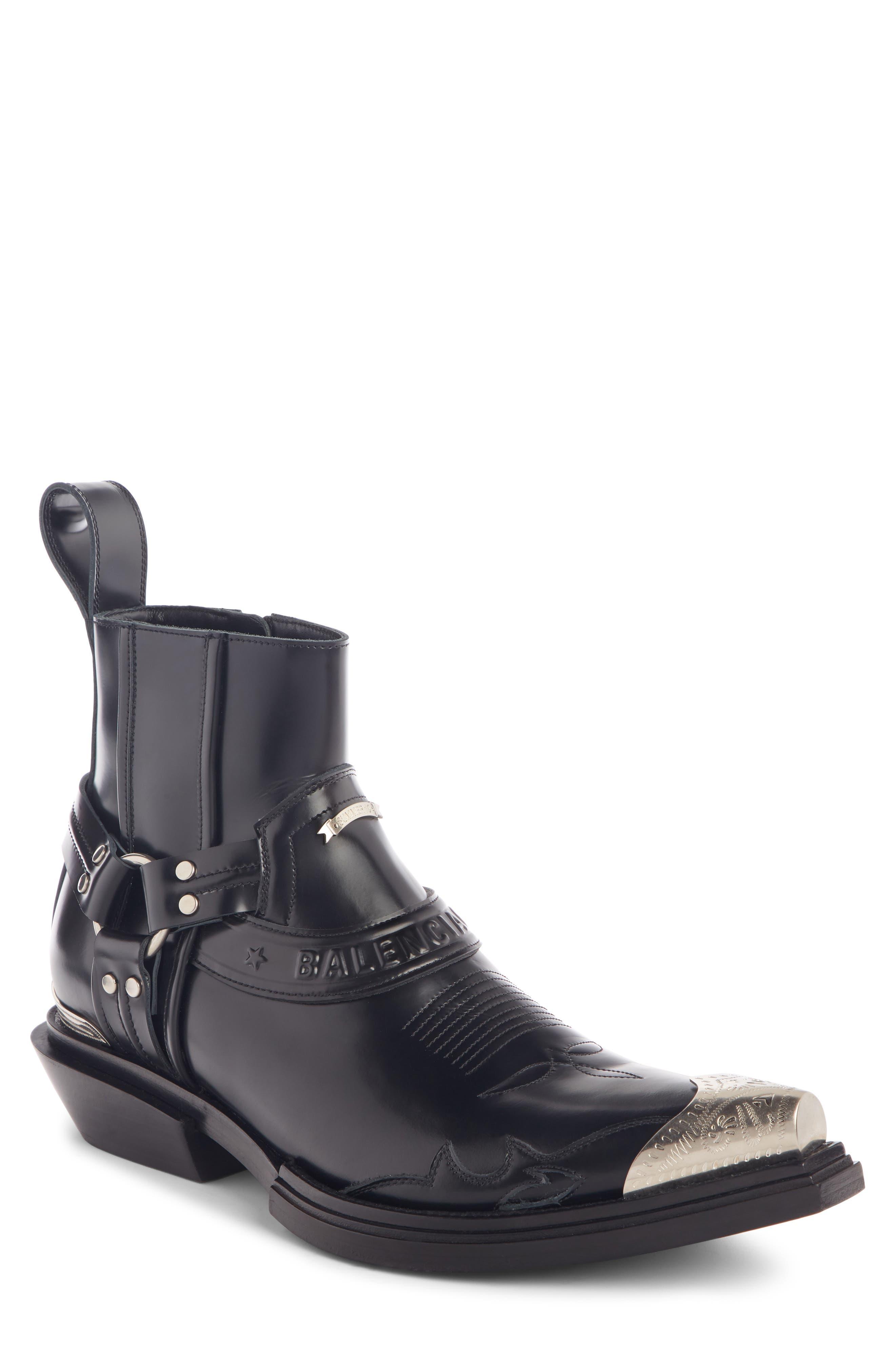 ,                             Santiag Harness Boot,                             Main thumbnail 1, color,                             BLACK