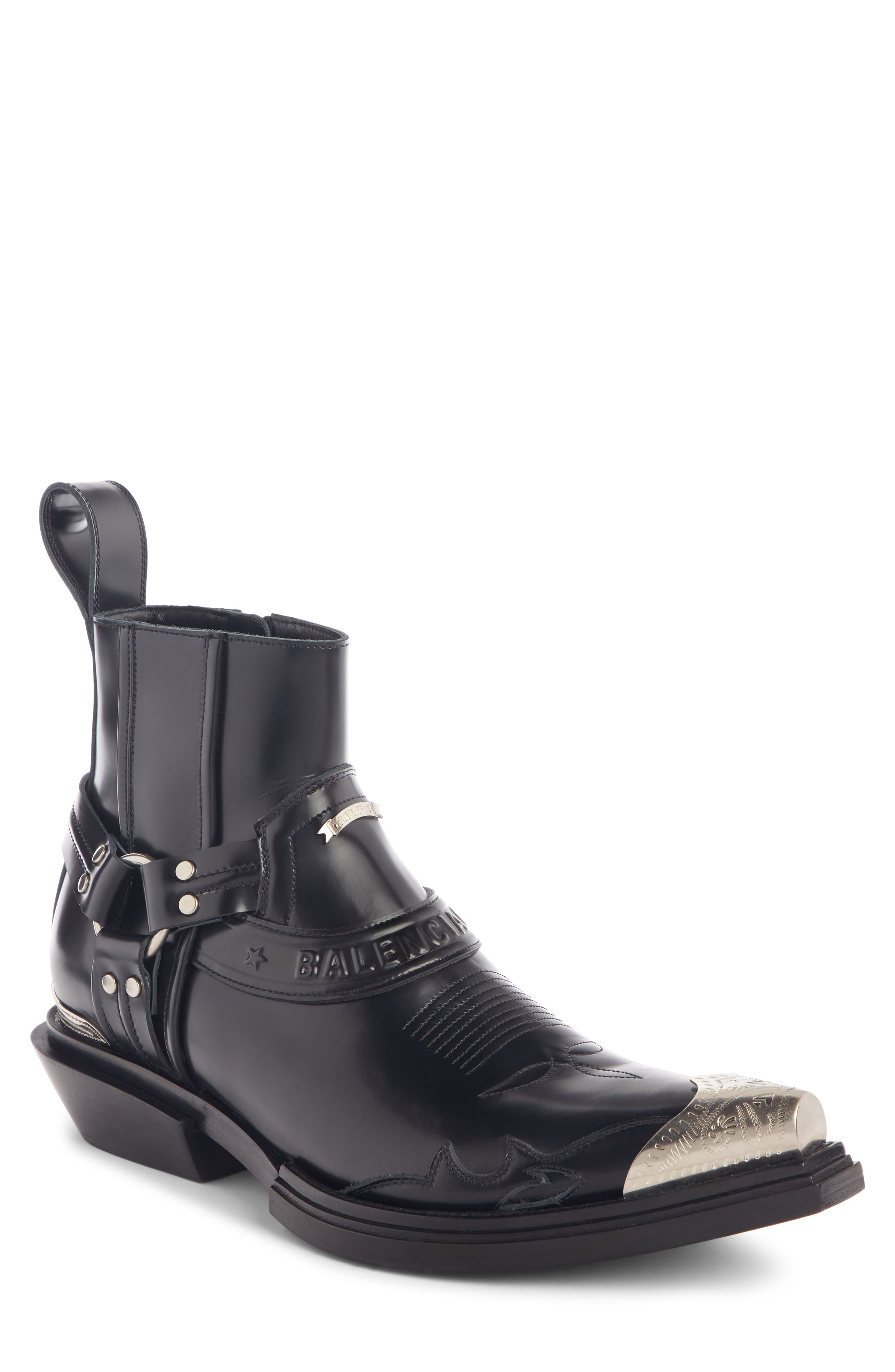 Santiag Harness Boot, Main, color, BLACK