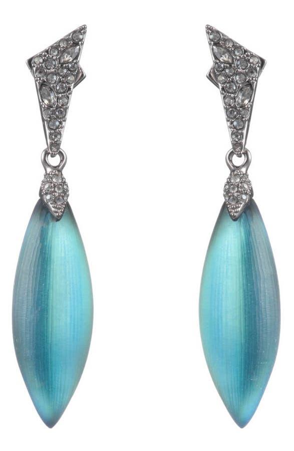 Alexis Bittar Crystal Encrusted Dangle Earrings, Green In Black Beetle