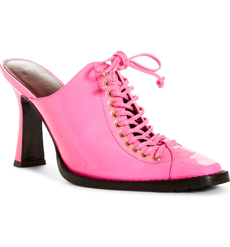 SIES MARJAN Stella Lace-Up Mule, Main, color, HOT PINK
