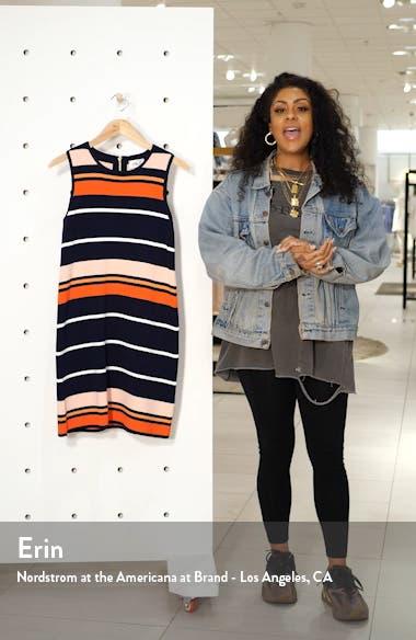Stripe Sleeveless Shift Sweater Dress, sales video thumbnail