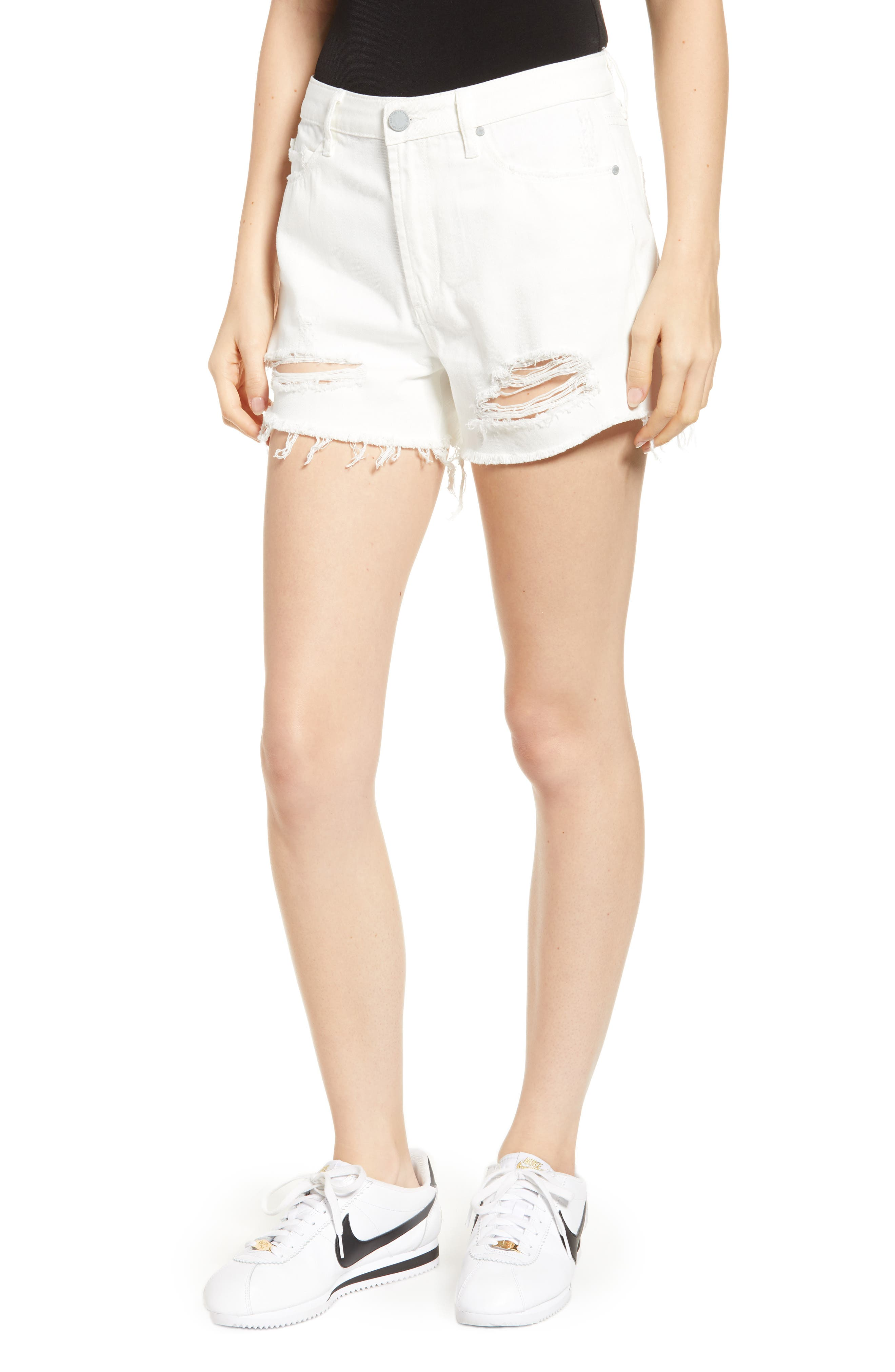 Image of Articles of Society Meredith Ripped & Frayed High Rise Jean Shorts