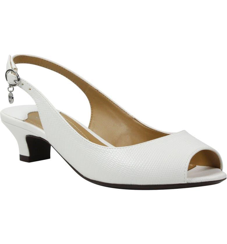 J. RENEÉ Jenvey Slingback Sandal, Main, color, WHITE LIZARD PRINT