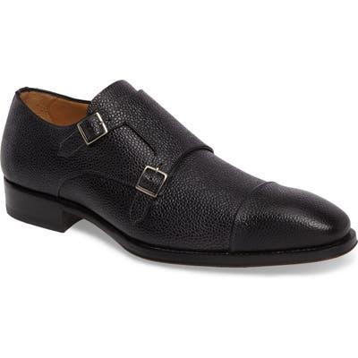Mezlan Lubrin Double Monk Strap Shoe, Black