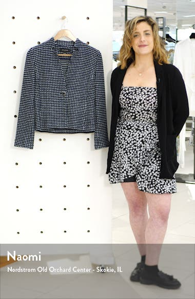 Dotted Inlay Tweed Knit Jacket, sales video thumbnail