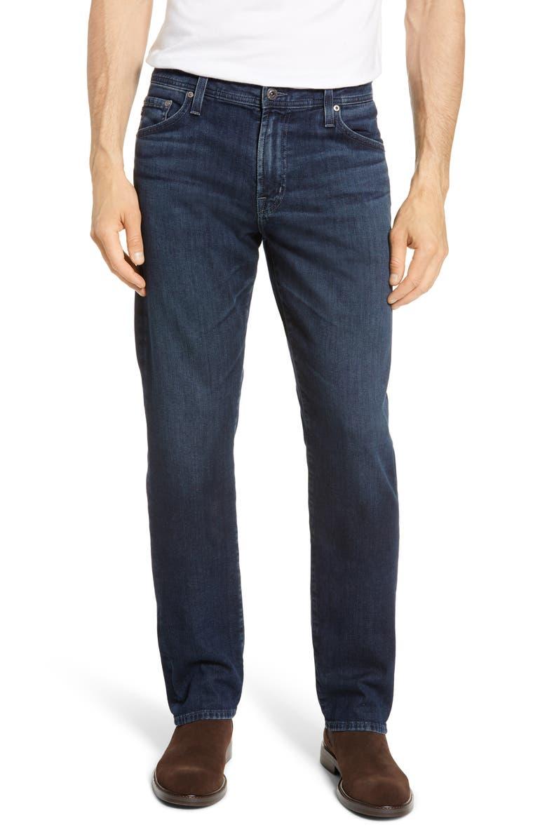 AG Everett Slim Straight Leg Jeans, Main, color, METER