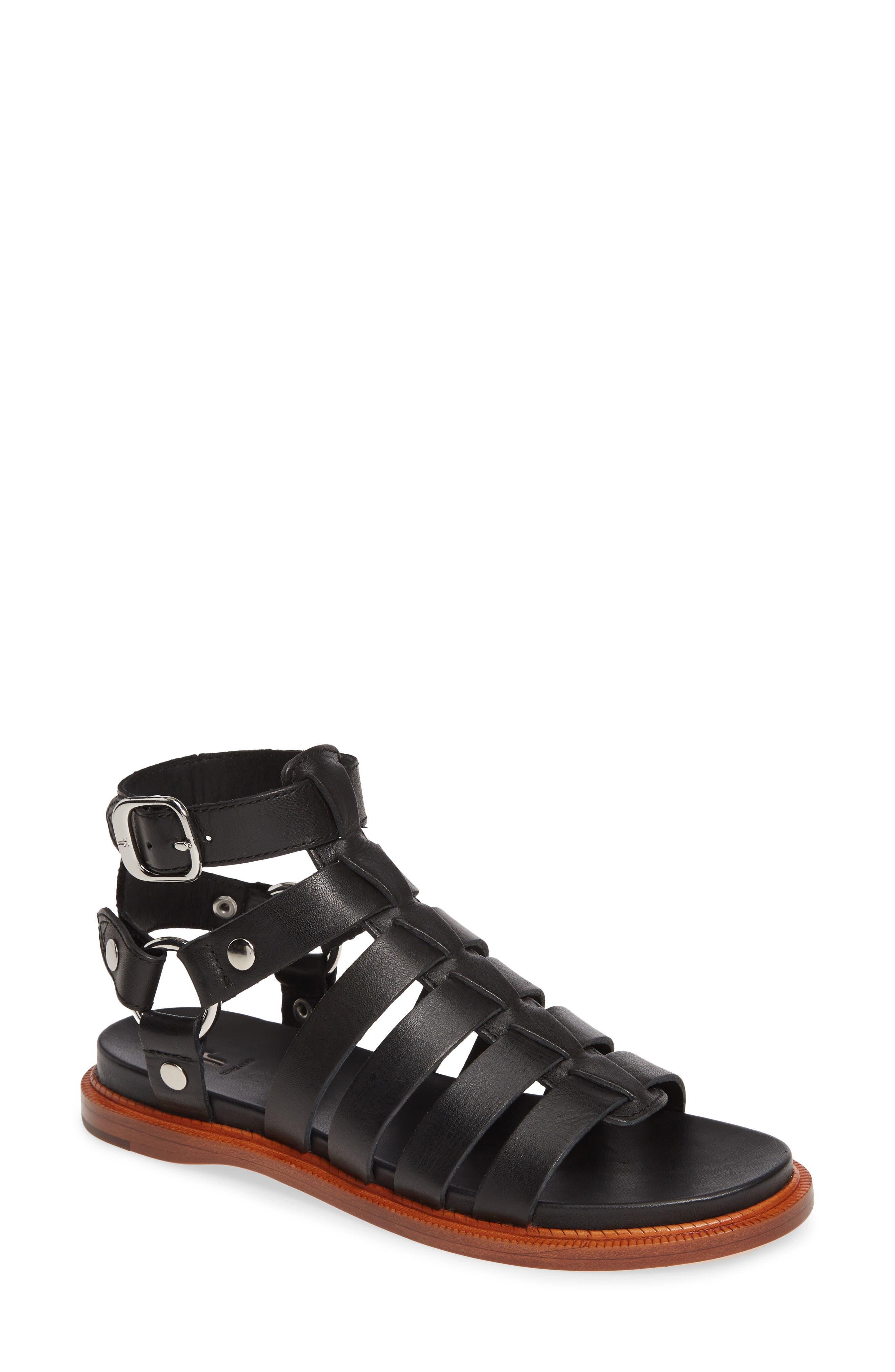 Andora Gladiator Sandal, Main, color, BLACK