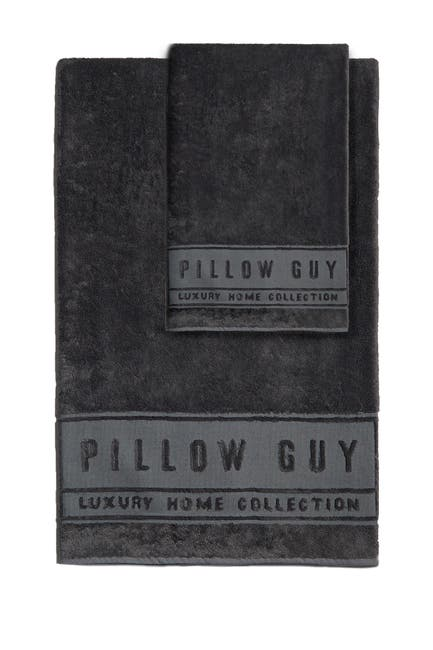 Image of Pillow Guy Charcoal Ultimate Hand & Bath Towel 2-Piece Bundle
