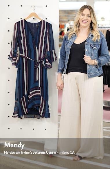 Bell Sleeve Stripe Chiffon Midi Dress, sales video thumbnail